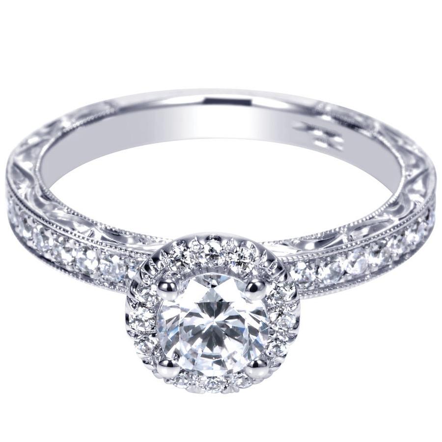 14k white gold victorian halo engagement ring. Black Bedroom Furniture Sets. Home Design Ideas